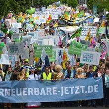 SL Windenergie demonstriert in Berlin