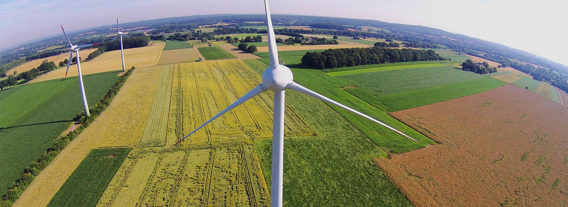 SL Windenergie Windpark Vogelperspektive