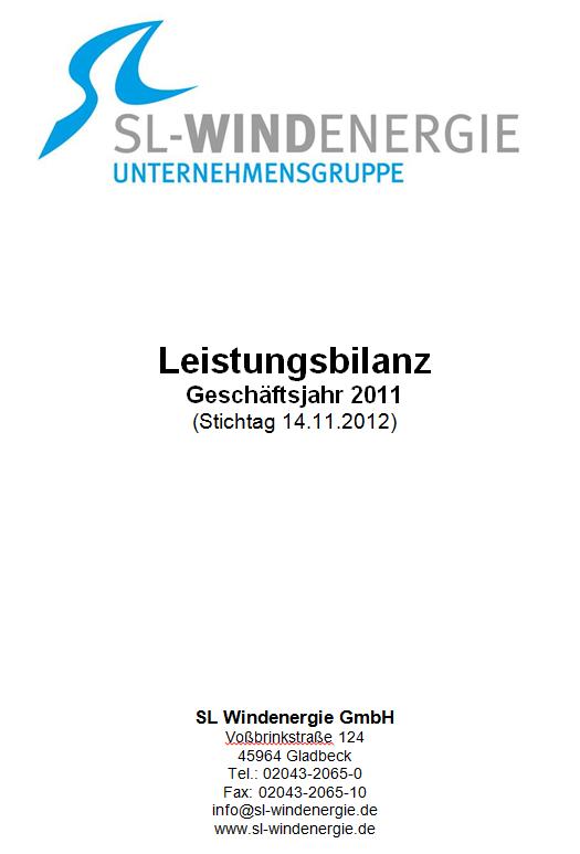 Leistungsbilanz 2011