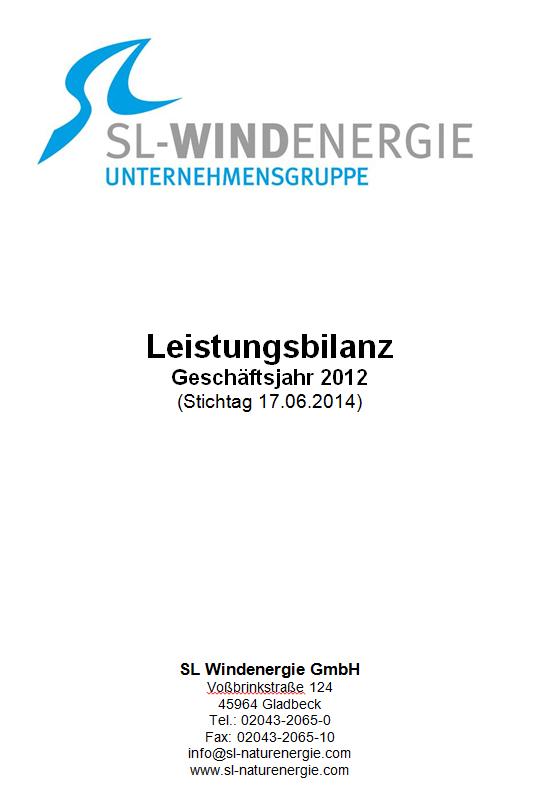 Leistungsbilanz 2012