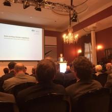 Klaus Schulze Langenhorst, Geschäftsführer und Gründer der Sl Naturenergie spricht in seiner Funktion als Vorsitzender des BWE NRW auf den Windenergietagen NRW in Bad Driburg.
