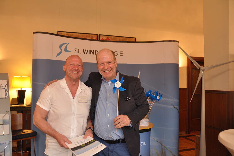 v.L.: Jürgen Pommerenke (SL NaturEnergie) und Dirk Volkmann (Volkmann Consult)