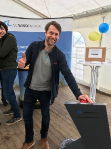 Sebastian Gampe, Projektverantwortlicher der SL NaturEnergie für das Projekt in Rees